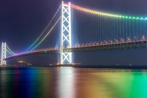 Akashi Kaikyo suspension bridge-japan