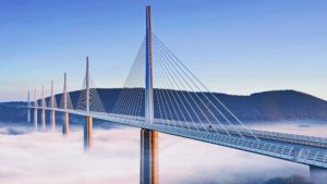 Millau cable stay bridge-France